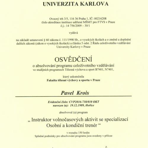 ftvs certifikát